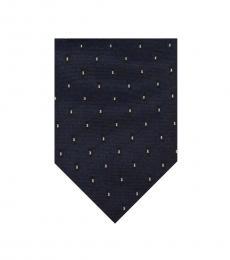 Christian Dior Navy Blue Skinny Tie
