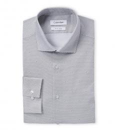 Flint Contrast Pattern Slim Fit Dress Shirt