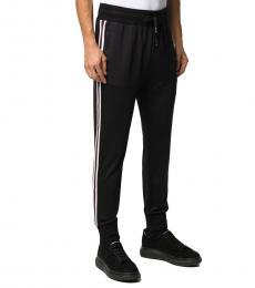 Black Striped Track Pants