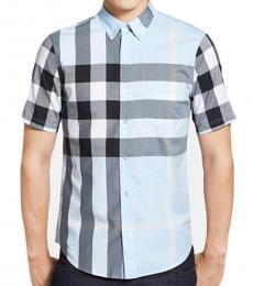 Sky Blue Short Sleeve Exploded Shirt