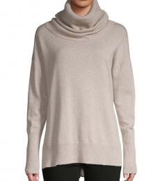 Light Grey Cowlneck Cashmere Sweater