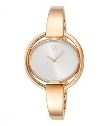 Gold Impetuous Silver Dial Watch
