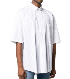 Balenciaga White Logo Short Sleeve Shirt