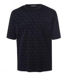 Dolce & Gabbana Black Logo Oversized T-Shirt