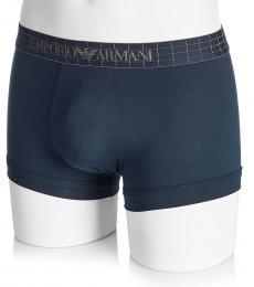 Dark Blue Cotton Boxer Trunk Briefs