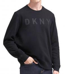 DKNY Black Logo Fleece Pullover