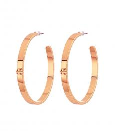 Tory Burch Rose Gold Kira Hoop Earrings