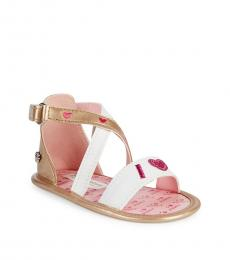 Juicy Couture Girls White I Love Juicy Sandals