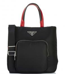 Prada Black Front Pocket Medium Tote