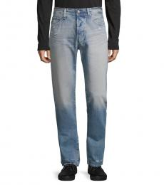 AG Adriano Goldschmied Years Distressed Straight Jeans