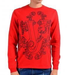 Red Logo Crewneck Sweater
