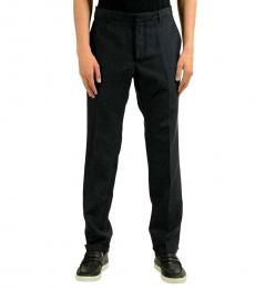 Dark Grey Silk Dress Pants