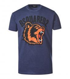 Dsquared2 Dark Blue Graphic Print T-Shirt