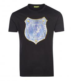 Versace Jeans Black Graphic Logo T-Shirt