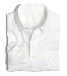 J.Crew Little Boys White Long Sleeve Shirt