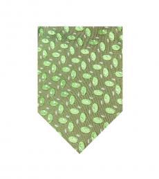 Light Green Modern Silk Tie
