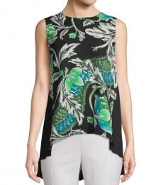 Black Silvie Floral Sleeveless Top