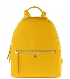 Tory Burch Cassia Yellow Emerson Medium Backpack