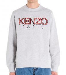 Kenzo Grey Logo Graphic Sweatshirt