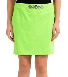 Light Green Embellished Mini Skirt