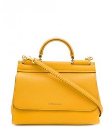 Dolce & Gabbana Yellow Miss Sicily Small Satchel