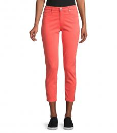 AG Adriano Goldschmied Fazed Mid-Rise Crop Jeans