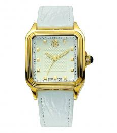 White Square Dial Watch