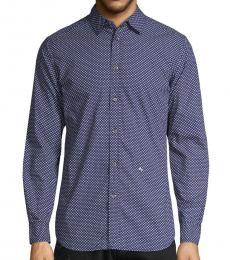 Diesel Indigo Printed Cotton Shirt