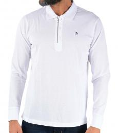 Diesel White Long Sleeve Hart Polo