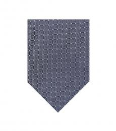 Charcoal Simple Grid Silk Tie