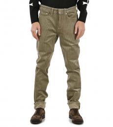 Taupe Velvet Corduroy Pants