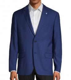 Royal Blue Checkered Sport Coat