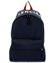 Balenciaga Blue Wheel Large Backpack