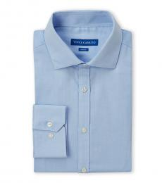 Blue Dobby Slim Fit Dress Shirt