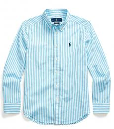 Ralph Lauren Boys Neptune Striped Poplin Shirt