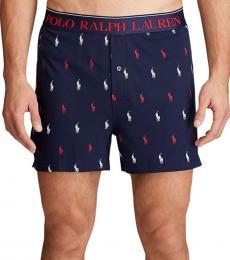 Ralph Lauren Cruise Navy Logo-Print Jersey Boxers