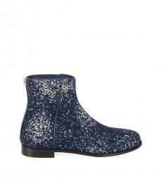 Jimmy Choo Midnight Blue Glitter Boots