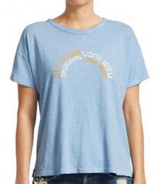 Rag And Bone Spring Blue Vintage Logo Tee