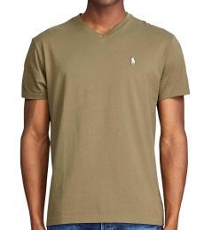 Ralph Lauren Olive Classic Fit V-Neck T-Shirt