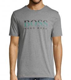 Hugo Boss Dark Grey Tiburt Logo T-Shirt