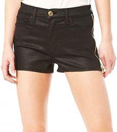 True Religion Black High Rise Mini Shorts