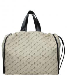 Stella McCartney Beige/Black Monogram Large Bucket Bag