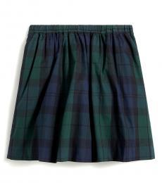 J.Crew Little Girls Blue Green Watch Plaid Skirt