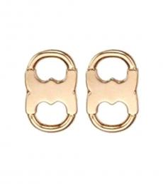 Tory Burch Rose Gold Gemini Link Stud Earrings