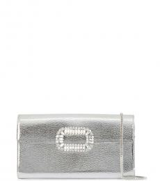 Roger Vivier Silver Choc Buckle Clutch