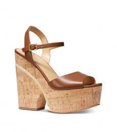 Michael Kors Luggage Lana Platform Dress Heels