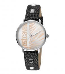 Just Cavalli Black Silver Dial Watch