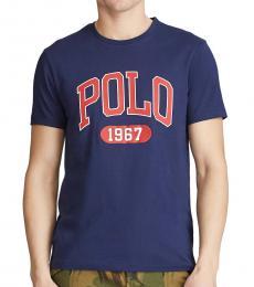 Ralph Lauren Navy Blue Custom Slim Fit Logo T-Shirt