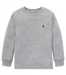 Ralph Lauren Little Boys Andover Heather Long Sleeve T-Shirt