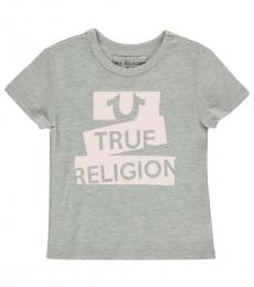 True Religion Little Girls Heather Grey Graphic T-Shirt